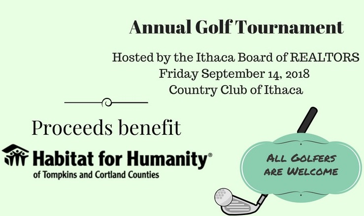 Annual Golf Tournament Hosted by the Ithaca Board of REALTORS Friday September 16, 2016 Country Club of Ithaca