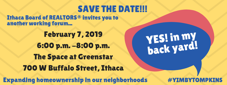 save the date!!! ithaca board of realtors® invites you to a working forum... (1)