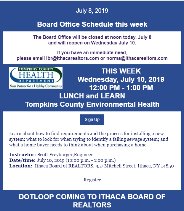 July 8, 2019 Board Update